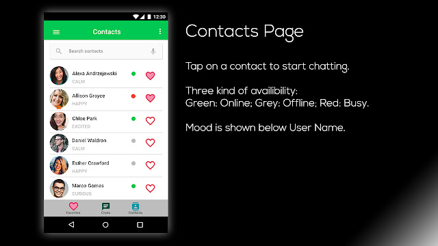 Limechat UI Contact Page