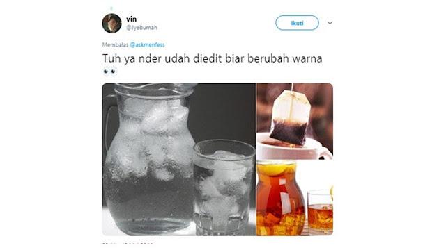 Trans Minum Air Es Kekinian, 6 Deretan Editan Foto Netizen Bikin Senyum Sendiri