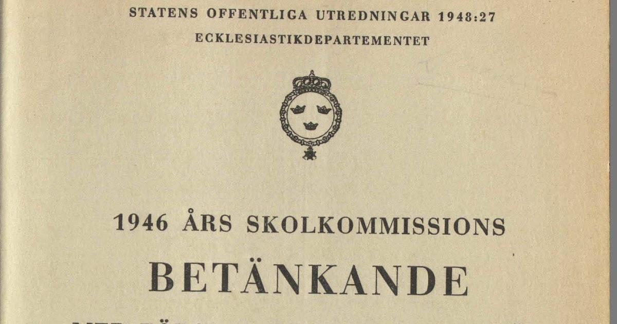 1946 års skolkommission Pluraword: Skolkommissionen och spårket 1946 års skolkommission
