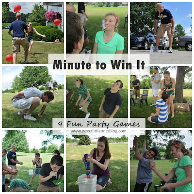 Minute to Win It Party Games - www.sweetlittleonesblog.com