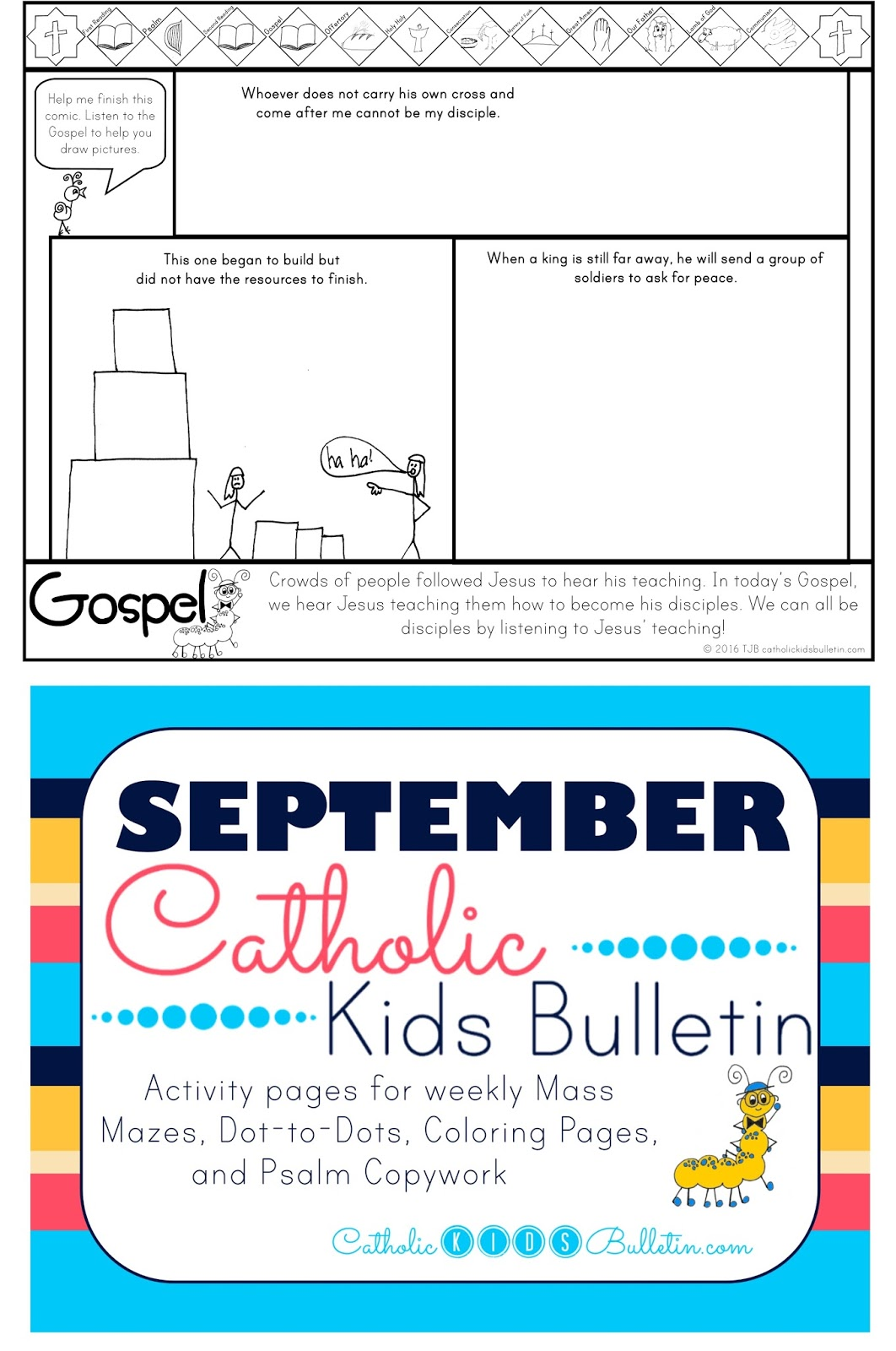 Coloring pages psalm 33 - Luke 14 25 33 Coloring Page Catholic Kids Bulletin