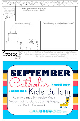 Luke 14:25-33 Coloring Page Catholic Kids Bulletin