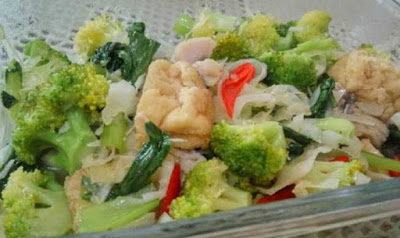 Resep tumis brokoli tahu