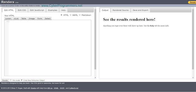Render lite JS IDE
