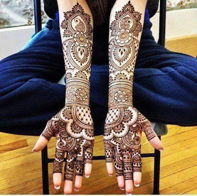 Full Hand Rajasthani Mehndi Design