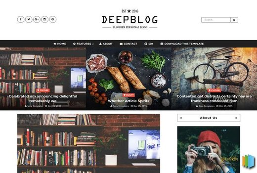Deep Blog Best Blogger Template 2017
