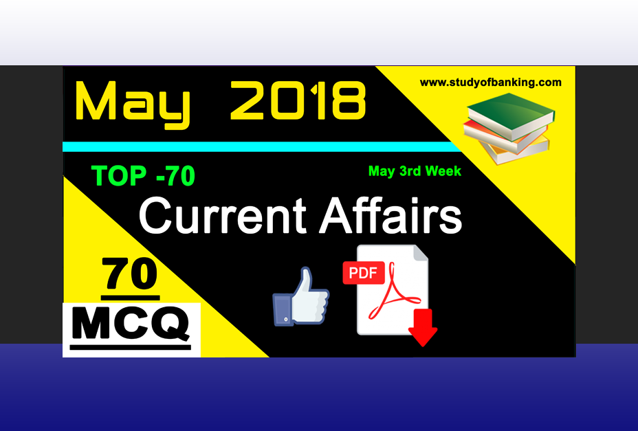 Weekly CA Quiz: May 2018 3rd Week with PDF