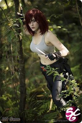 Eve Beauregard as Black Widow.