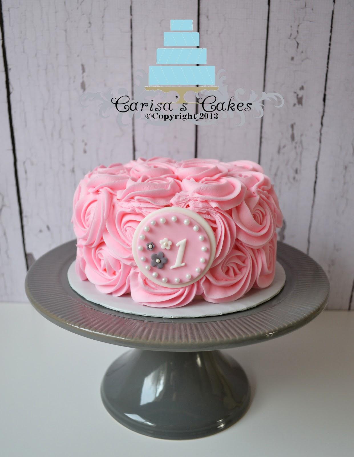 Carisa S Cakes Rose Swirl Smash Cake