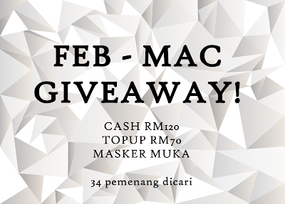 FEB - MAC GIVEAWAY : 34 HADIAH!