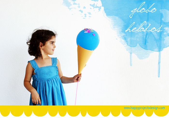 Helados con globos