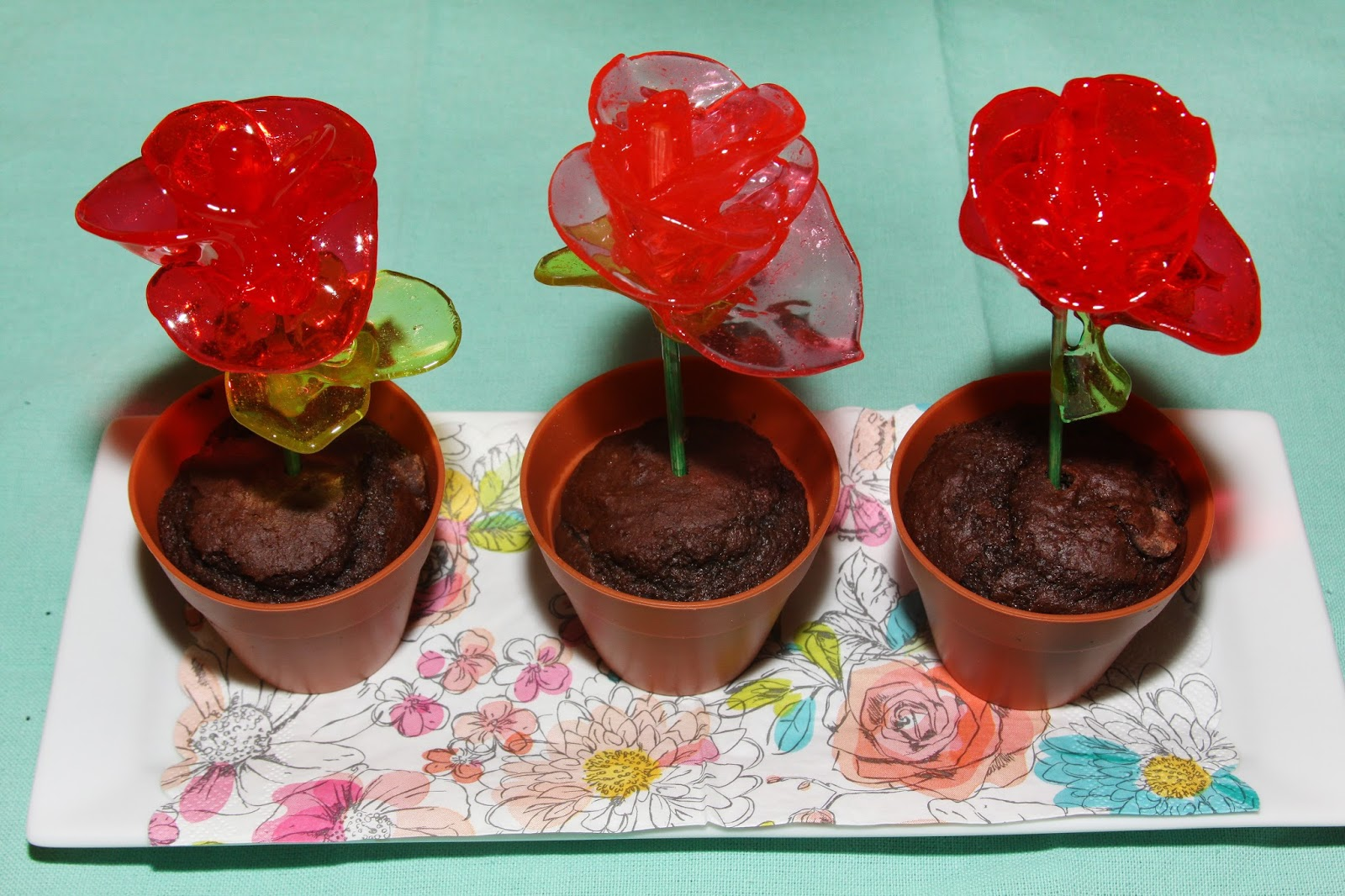For the Love of Food Blog & For the Love of Food: Flower Pot Muffins with Candy Roses