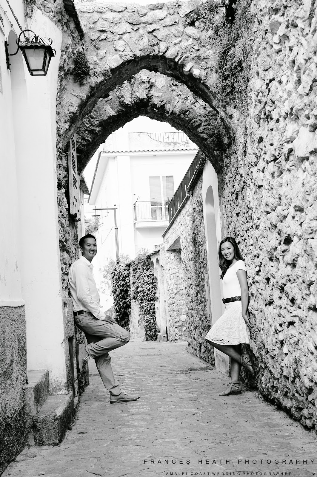 Engagement portrait in Ravello