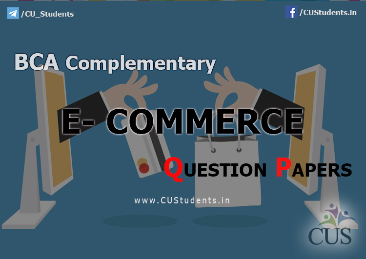 BcA e COMMERCE Previous Question Papers