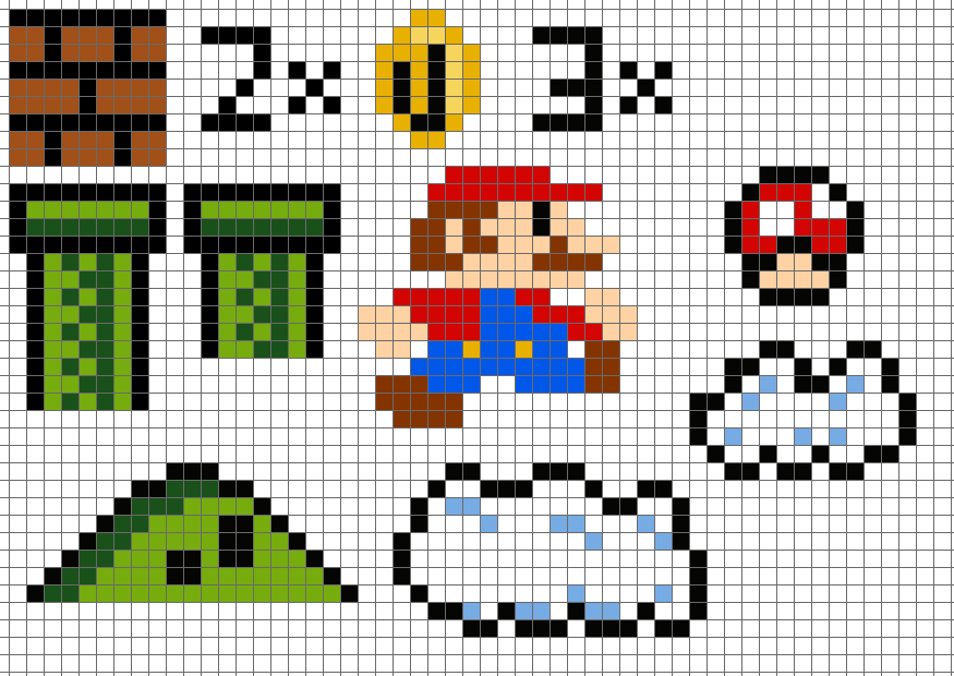 Super Mario Bros 3 Papercraft Diorama Free Template Download