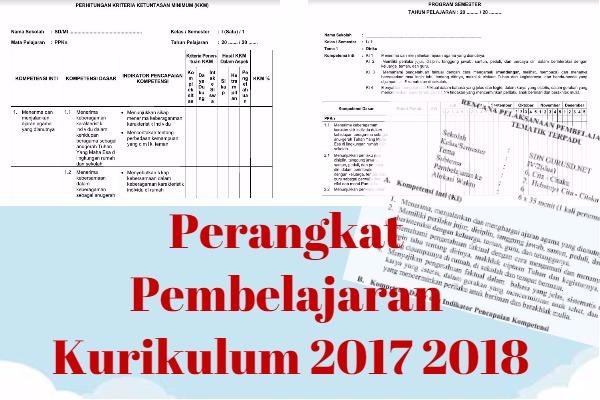 Perangkat Pembelajaran Kurikulum 2017 2018 Kurikulum 2013 Revisi Baru