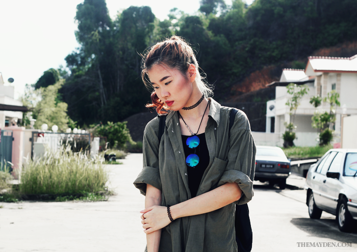 Brunei Blogger May Cho, Fashion Blogger and Style Blogger of The Mayden, Red Hair, grunge, alternative, casual, ootd,