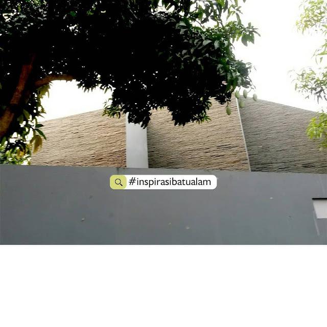 Fasad batu alam simple elegant