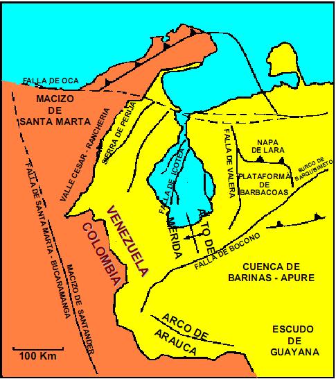 Rasgos Estructurales de Venezuela Occidental.