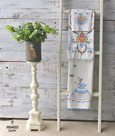 Tall Candlestick Repurposed as House Plant Holder