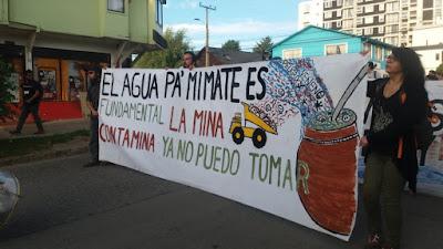 Concurrida marcha se llevó a cabo en Coyhaique en contra de diversos proyectos mineros