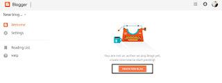 Blog bnane ke liye New Blog ki button par click kare