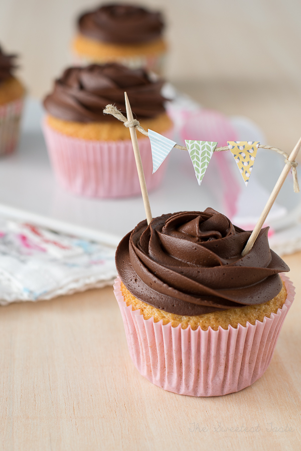 Crema de Chocolate Cupcakes de Chocolate y Crema