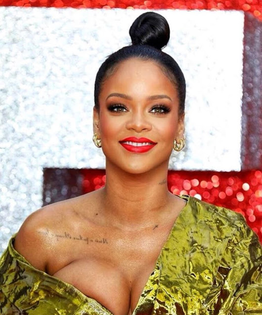 Rihanna shows B**bs in controversial New Photo for Oceans8 Movie