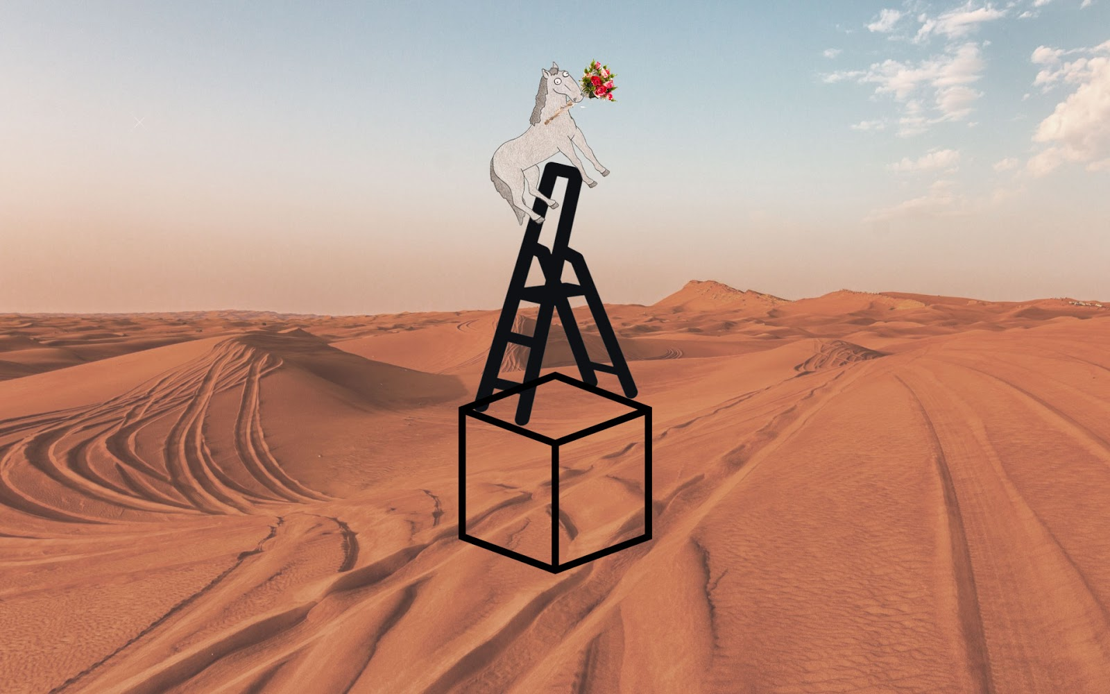 Cube in the desert