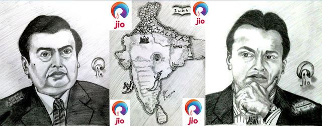 PENCIL DRAWING - MUKESH AMBANI