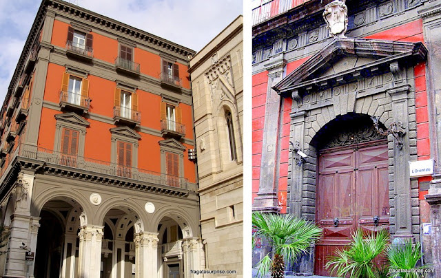 Fachadas do Centro Histórico de Nápoles