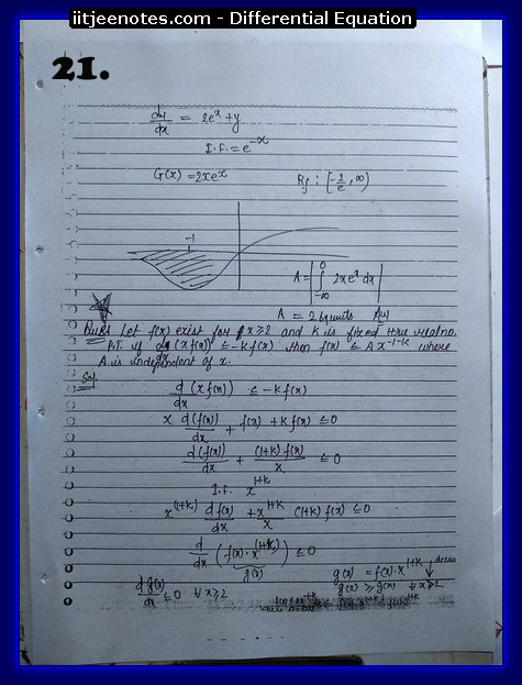 differential equation notes8