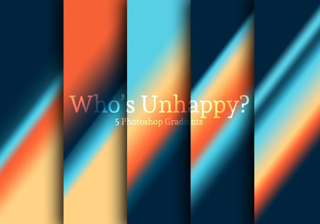Who's Unhappy? Photoshop Gradients