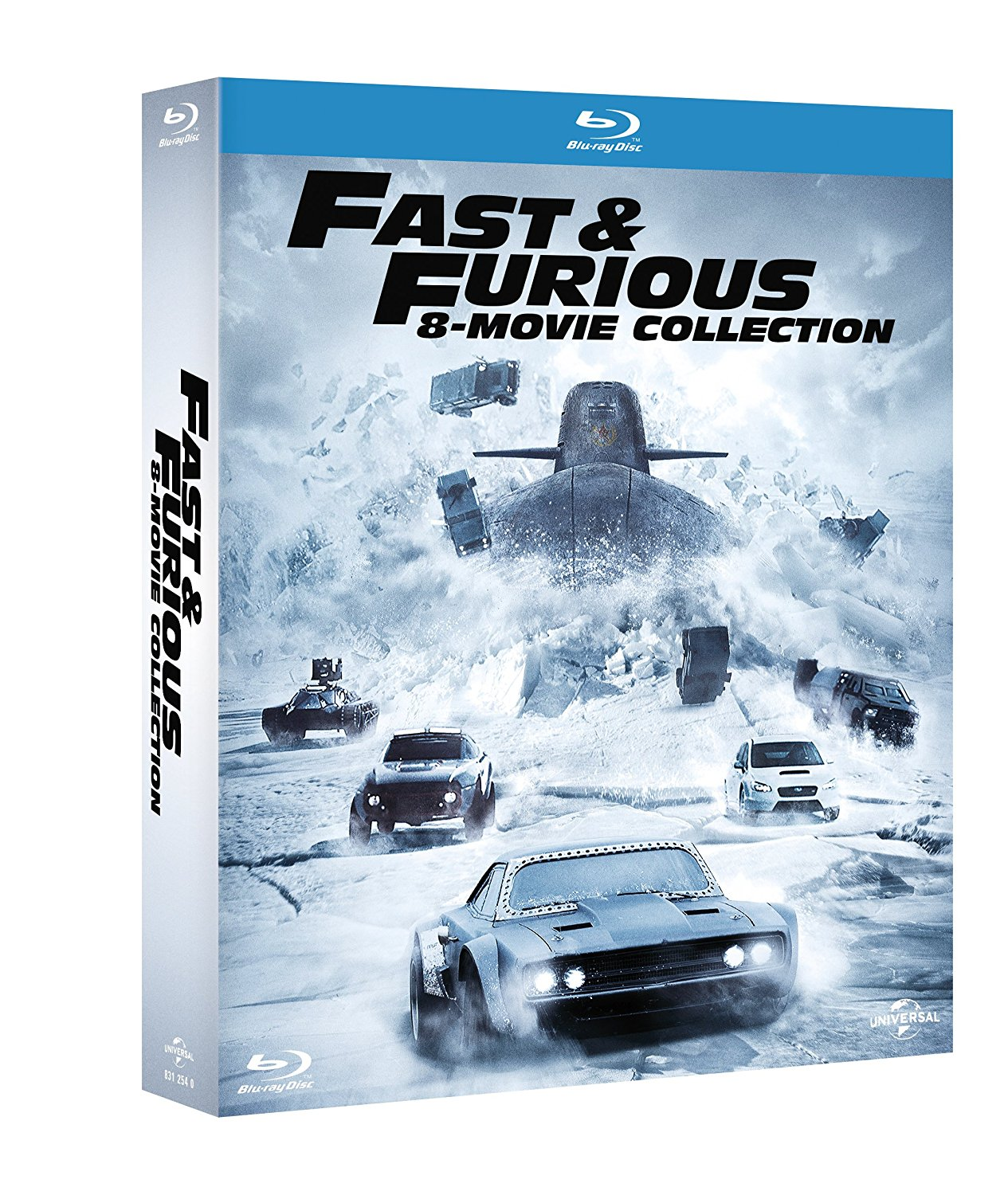 Fast & Furious 8 Movie Collection (8 Blu-Ray)
