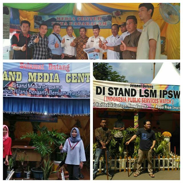 Media Center dan LSM IPSW ikut Ramaikan Bazar BASEMAH EXPO