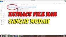 Cara Extract File RAR di Semua Versi Windows