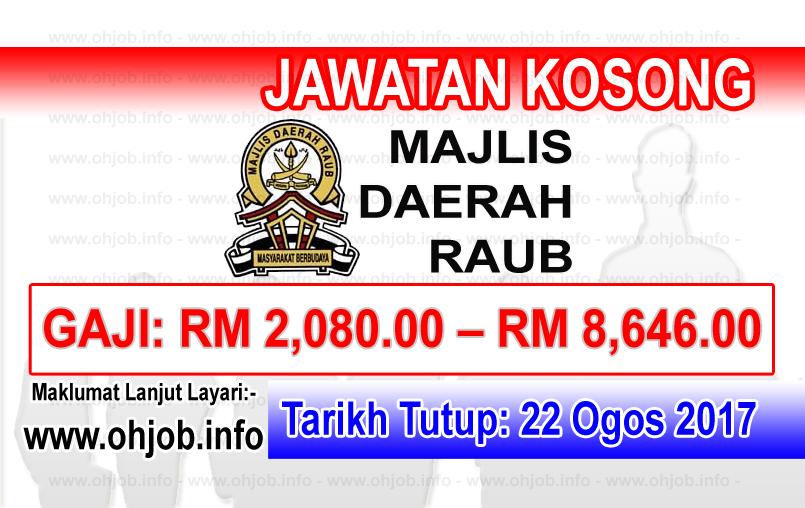 Jawatan Kerja Kosong Majlis Daerah Raub - MDRaub logo www.ohjob.info ogos 2017
