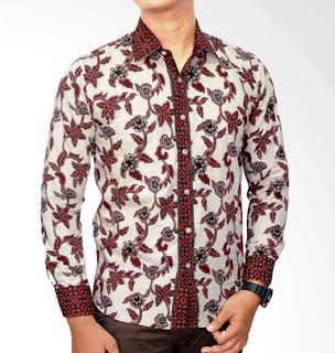 Desain modern kemaja batik untuk pria lengan panjang