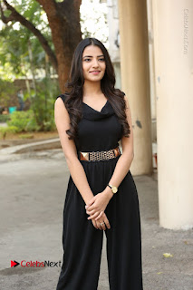 Telugu Actress Rukhsar Mir Stills in Black Long Dress at Aakatayi Movie First Look Launch  0073.JPG