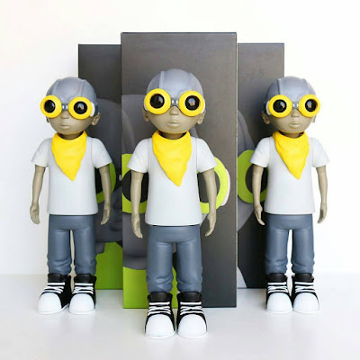 C2E2 2017 Exclusive Gray Scale Edition Flyboy Vinyl Figure by Hebru Brantley
