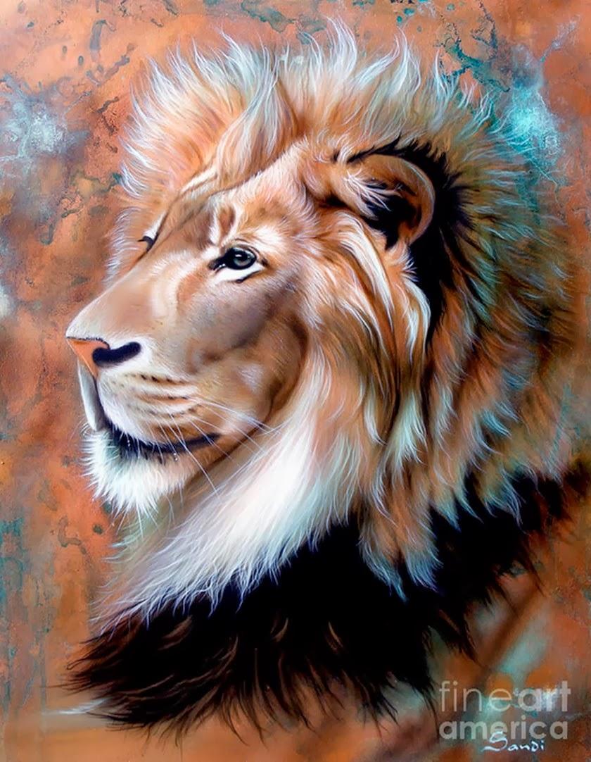Cuadros modernos pinturas y dibujos cuadro de le n - Cuadros pintados con spray ...