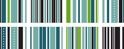Green, Blue, Black Stripes - Patterrific