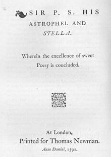 Philip Sidney Astrophil and Stella