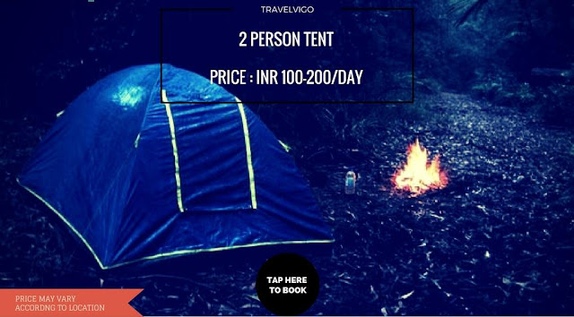 2 person tent for rent in Bangalore