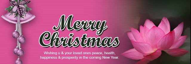 Pink Christmas Facebook Cover