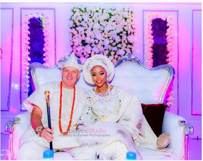 Six beautiful photos from Mariam Adeyemi's wedding to white hubby