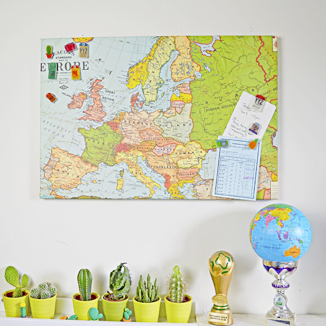 Art, maps, vintage maps, tags, travel tags, decorating , boys room, game room ideas