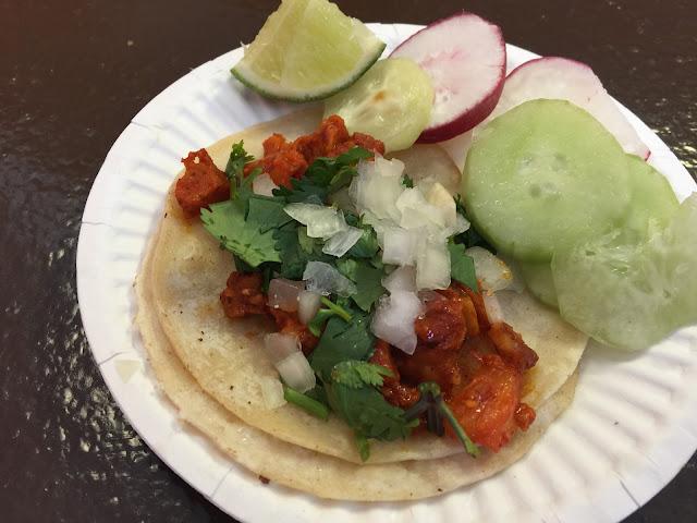 Vegan al pastor taco at Pancho's Vegan Tacos in Las Vegas
