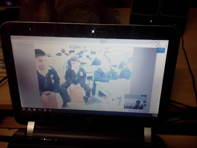 Cross cultural exchange video conference with Peru school