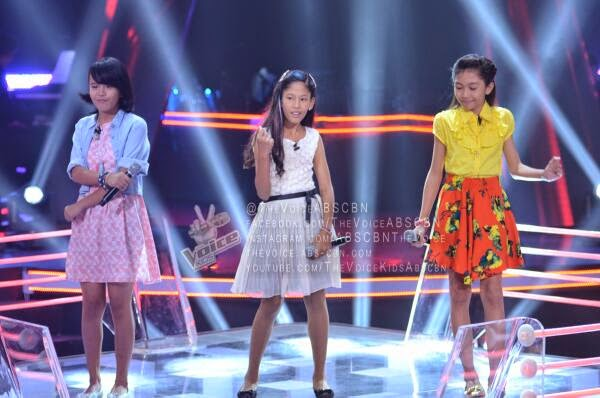Triscia vs Diana vs Hannah Team Sarah Battles on 'The Voice Kids' Philippines